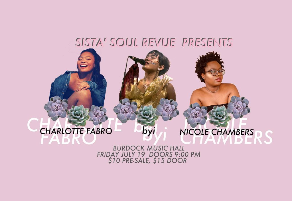 event poster for sista' soul revue